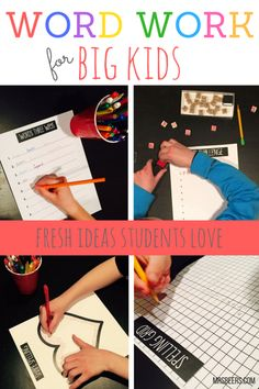 ELA Word Work for BIG KIDS Strategies to implement right away with your students.