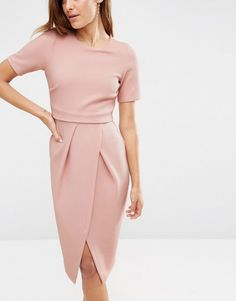 Image 3 of ASOS Double Layer Textured Wiggle Dress