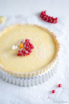 Lemon white chocolate tart