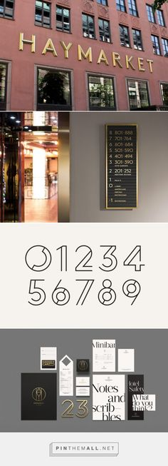 Haymarket Hotel identity by 25AH - THEINSPIRATION.COM - created via https://pinthemall.net