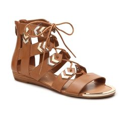 Fergie Trisha Gladiator Sandal | DSW ($70) ❤ liked on Polyvore featuring shoes, sandals, roman sandals, gladiator sandals, gladiator sandals shoes and greek sandals