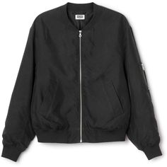 Monoc Bomber ❤ liked on Polyvore featuring outerwear, jackets, zip bomber jacket, zipper jacket, zip jacket, bomber style jacket and bomber jacket
