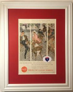 1957 57 Coca-Cola Vintage Ad Paris Cafe Jack Potter Have a Coke Sign of Good Taste
