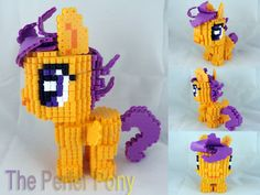 My Little Pony 3D Perler Filly Pony Commission by ThePerlerPony