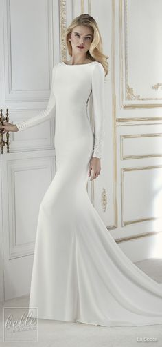 Simple Wedding Dresses Inspired by Meghan Markle | Long sleeve wedding Dress by La Sposa | Royal wedding bridal gown #weddingdress #weddingdresses #bridalgown #bridal #bridalgowns #weddinggown #bridetobe #weddings #bride #weddinginspiration #dreamdress #fashionista #weddingideas #bridalcollection #bridaldress #fashion #dress See more gorgeous bridal gowns by clicking on the photo