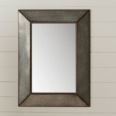 Laurel Foundry Modern Farmhouse™ Rectangle Antique Galvanized Metal Accent Mirror