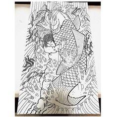 완성 !! 눈온다 ㅎㅎ ~ #tattoo #iresumi #irezumi #horimono #ukiyoe #school #newschooltattoo #new #newschool #drawing #sketch #daily #sausage… Japanese Style, Outline, Samurai, Tattoos, Drawings, Tattoo, Graphic Design, Drawing Drawing, Japan Style
