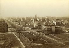 """The photographer Peter Baab captured what he called the """"march of improvement."""" New row houses and mansions began to overrun the old factories, squatter homes, and farmhouses that once dominated the Upper East Side."""