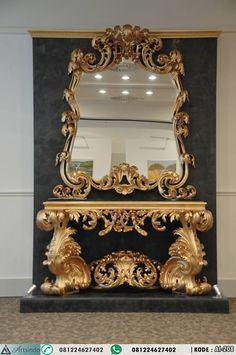 Meja Console Mewah Ukiran Gold Klasik Eropa by Furniture Jepara 081224627402