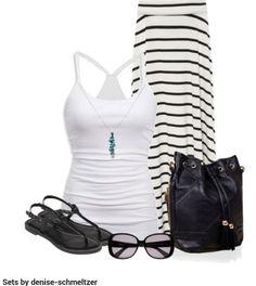 LOLO Moda: Spring summer fashion #maxiskirt #outfit
