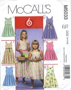 McCall's 5033 Children's/Girls' Dresses in Two Lengths