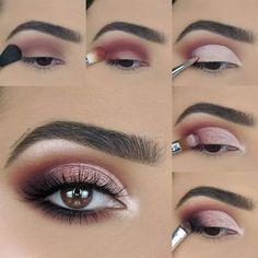 Soft Eye Makeup, Eye Makeup Steps, Makeup Eye Looks, Eye Makeup Art, Smokey Eye Makeup, Eyebrow Makeup, Skin Makeup, Eyeshadow Makeup, Makeup Tips