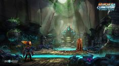Ratchet & Clank: A Crack In Time -- Vogal Caves Concept Art // Insomniac Games