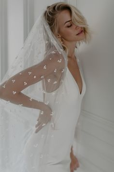 Jordan is French crepe luxury and striking simplicity. She will hug all the right places with classic elegance. French Crepes, Classic Elegance, Veil, Hug, Jordans, Love, Bridal, Elegant, Luxury