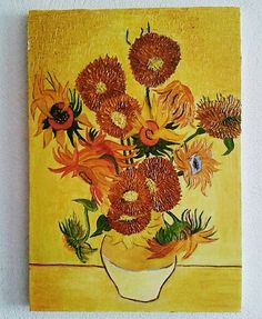 Sunflowers. Oil painting
