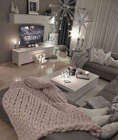36 Cozy Living Room Design Ideas For Apartment - Home Bestiest Cozy Living Rooms, Apartment Living, Home And Living, Living Room Decor, Bedroom Decor, Cozy Apartment, Small Living, Bedroom Ideas, Modern Living