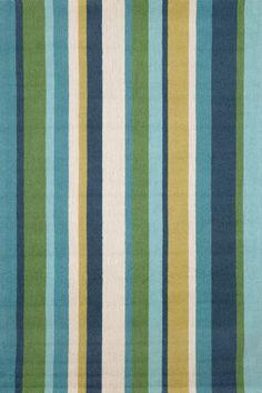 Trans-Ocean Newport Verticle Stripe Blue 1660/04 Area Rug