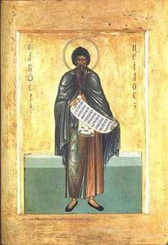 St Nilus was a century ascetic monk who was a disciple of St John Chrysostom (a doctor of the Church). He made a prophecy (though some dispute it dates from his time) relating to the century which is striking in its foresight. Satan, John Chrysostom, Gospel Of Luke, Saint Esprit, Biblical Art, Orthodox Icons, Weird World, Pilgrimage, Emperor