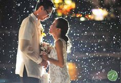 """Showered with blessings""  skywriting below the stars..: 20 Amazing Photos of Couples by Prime Studio PH-2 #weddings #couples #lovers #rain #PrimeStudioPH"