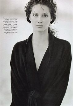 Christy Turlington - Harper's Bazaar, May 1993 by Peter Lindbergh