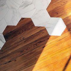 Top 70 Best Tile To Wood Floor Transition Ideas - Flooring Designs Wood Tile Floors, Timber Flooring, Parquet Flooring, Hardwood Floors, Concrete Floor, Tile To Wood Transition, Transition Flooring, Living Room Flooring, Kitchen Flooring