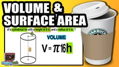☆ Learn to find the Volume & Surface Area of a Cylinder | Common Core Ge...