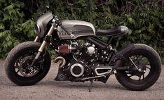 """Rouge One"" – 1982 Yamaha Virago Custom Virago Cafe Racer, Yamaha Cafe Racer, Yamaha Virago, Cafe Bike, Cafe Racers, Brat Bike, Rougue One, Motorcycle Wallpaper, Concept Motorcycles"