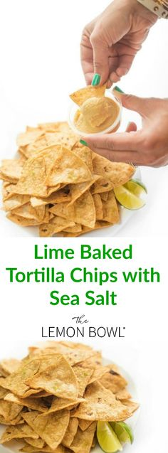 These lime scented baked corn tortilla chips are light and crunchy, the ultimate healthy snack recipe! Appetizer Dips, Best Appetizers, Appetizer Recipes, Snack Recipes, Party Appetizers, Yummy Snacks, Yummy Food, Baked Corn Tortilla Chips, Corn Tortillas