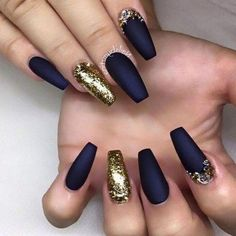 80 Most Sexy And Trendy Prom And Wedding Acrylic Nails And Matte Nails For This Season - Nail Design 32 Wedding Acrylic Nails, Blue Acrylic Nails, Acrylic Nail Designs, Wedding Nails, Nail Art Designs, Blue Matte Nails, Dark Blue Nails, Coffin Nails Matte, White Nails
