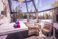 Set in breathtaking snowy surroundings, these 10 cozy retreats in Finland offer wintertime accommodation with a certain je ne sais quoi. Interior Design Photos, Interior Design Inspiration, Beautiful Living Rooms, Beautiful Space, Modern Office Design, Destinations, Beautiful Places To Travel, Outdoor Living, Outdoor Decor