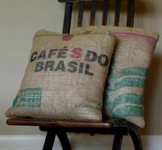 Coffee Sack Pillows!