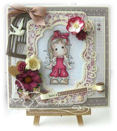 Cute friendship card with a shabby chic slant to it. #cardmaking Papers used on this card are from FQB - Truly Madly Deeply from Nitwit Collections™