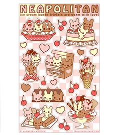 Sugar Bunny Shop - Neapolitan Sticker Sheet