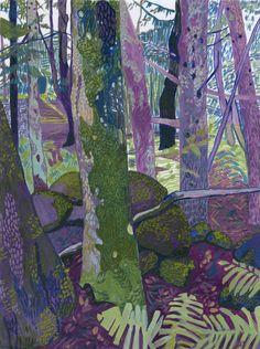 Elizabeth Chapin: Forest Meditation 2, oil on paper.