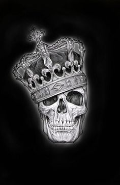 £4.95 GBP - Framed Print - Skull Of A King Wearing His Crown (Gothic Picture Poster Art) #ebay #Home & Garden