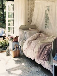 Bright and airy. Cozy, but not too hidden away, still attached to life.