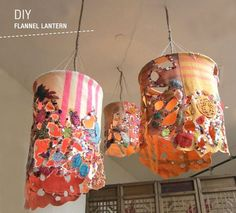 recycled fabric hanging lanterns