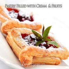 Pastry Filled with Cream and Fruits