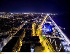 Thessaloniki aerial view - Board-walk - Macedonia Greece
