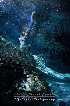 deep cenote underwater trash the dress