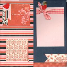 @cartabellapaper Words of love line  2 page scrapbooking layout kit #scrapbooking I heart us #papercrafting