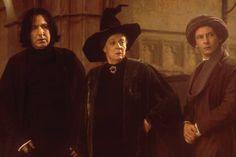 Professors Severus Snape, Minerva McGonagall, and Quirinus Quirrell (Harry Potter and the Sorcerer's Stone)