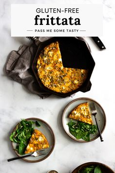 This simple 25-Minute Frittata with Sausage, Kale, and Sun-Dried Tomato Pesto is naturally gluten-free and makes for a quick and easy meal that is perfect for breakfast, brunch, lunch and even breakfast for dinner! Gluten Free Recipes For Lunch, Foods With Gluten, Real Food Recipes, Delicious Breakfast Recipes, Brunch Recipes, Delicious Food, Tasty, Baked Frittata, Gluten Free Scones