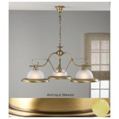 Lustrarte 341/3 Three Light One Tier Chandelier from the Rustik Collection