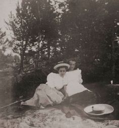 Grand Duchess Olga with her mother's lady-in-waiting, Olga Byutsova on holiday in Finland, 1908