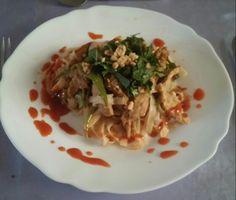 Pad Thai improvisé...avec une touche personnelle Singthai