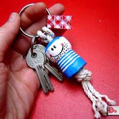 cute cork keychain