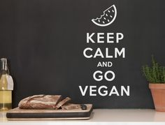 Wall tattoo English sayings ' ' Go vegan ' ' wall sticker vegan wall words animal lover saying Keep Calm Sprüche, Wall Stickers Animals, Normal Wallpaper, Kitchen Quotes, Wall Tattoo, Blink Of An Eye, Nursery Wall Decals, Room Wall Decor, Going Vegan