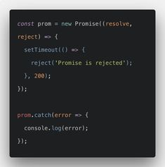 """Javascript Promise is a special js object that links the """"producing code"""" and the """"consuming code"""" together. C Programming Learning, Python Programming, Programming Languages, Computer Coding, Computer Technology, Computer Science, Web Design Trends, Design Ideas, Graphic Design Resume"""
