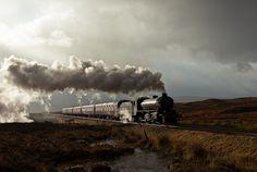 the Peppercorn K1 #62005 chuggin' over Rannoch Moor, Scotland ... by Articdriver, via Flickr